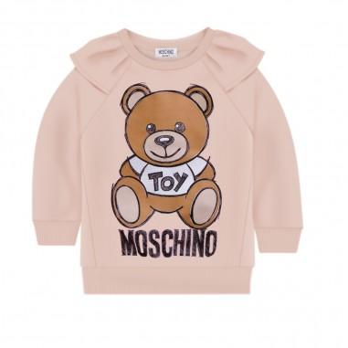 Moschino Kids Felpa Logo Rosa - Moschino maf01k-lda14-moschino30