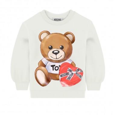Moschino Kids Cream Logo Sweatshirt - Moschino mdf022-lda16-moschino30