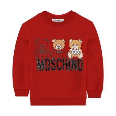 Moschino Kids Red Baby Sweatshirt - Moschino mpf03e-lda14-rosso-moschino30
