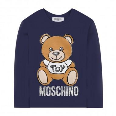 Moschino Kids Blue Baby T-Shirt - Moschino mvo000-lba11-blu-moschino30