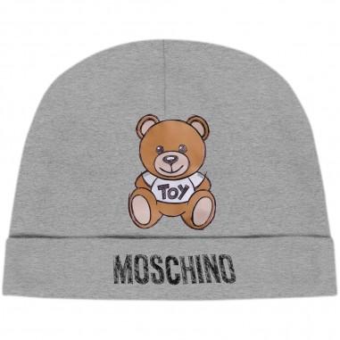 Moschino Kids Cuffia Grigia Neonati - Moschino mrx031-lda14-grigio-moschino30