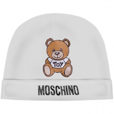 Moschino Kids Cream Baby Hat - Moschino mrx031-lda14-cloud-moschino30