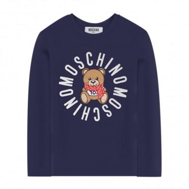 Moschino Kids Blue Logo T-Shirt - Moschino hdo0002-lba23-blu-moschino30