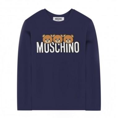 Moschino Kids Blue Long Sleeve T-Shirt - Moschino huo006-lba24-moschino30
