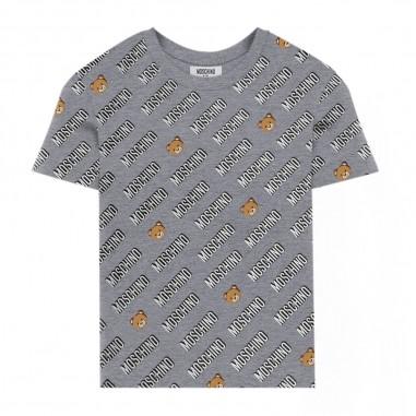 Moschino Kids T-Shirt Grigia All-Over - Moschino hnm02s-lbb47-grigio-moschino30