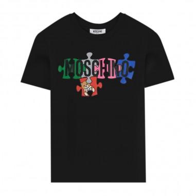 Moschino Kids Puzzle Logo T-Shirt - Moschino hmm02s-laa10-moschino30