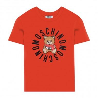 Moschino Kids Red Logo T-Shirt - Moschino hpm02s-lba23-poppyred-moschino30