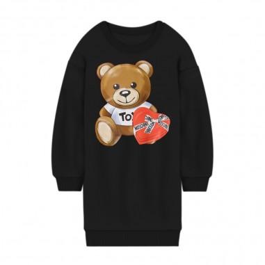 Moschino Kids Girls Black Dress - Moschino hdv096-lda16-moschino30