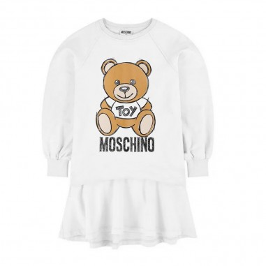Moschino Kids Baby Girls Cream Dress - Moschino mav07m-lda14-cloud-moschino30