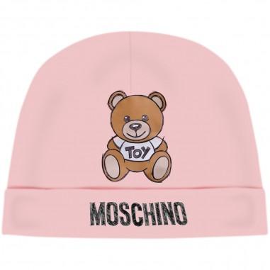 Moschino Kids Pink Baby Hat - Moschino mrx031-lda14-sugarrose-moschino30