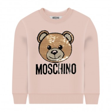 Moschino Kids Pink Logo Sweatshirt - Moschino hrf039-lda16-sugarrose-moschino30