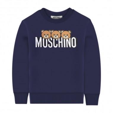 Moschino Kids Blue Logo Sweatshirt - Moschino hsf039-lda26-moschino30