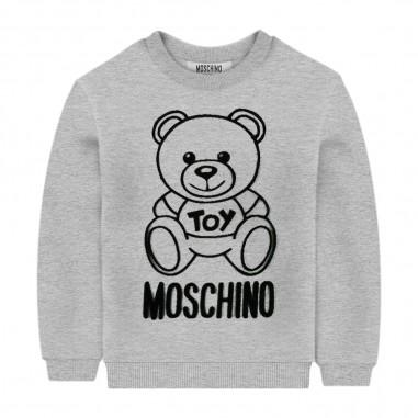 Moschino Kids Girls Grey Sweatshirt - Moschino hmf043-lda17-grigio-moschino30