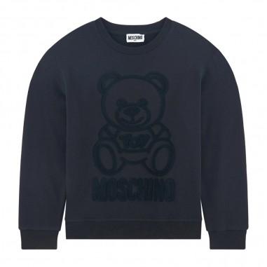Moschino Kids Girls Black Sweatshirt - Moschino hmf043-lda17-nero-moschino30