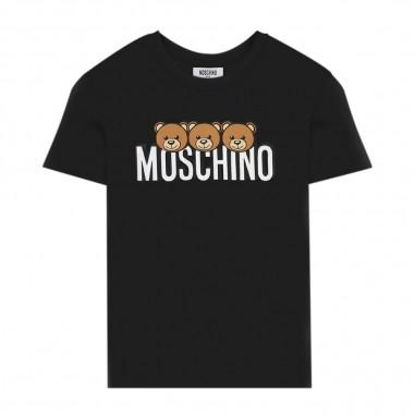 Moschino Kids Black Short Sleeve T-Shirt - Moschino hom02s-lba24-nero-moschino30