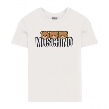 Moschino Kids T-Shirt Panna Manica Corta - Moschino hom02s-lba24-cloud-moschino30