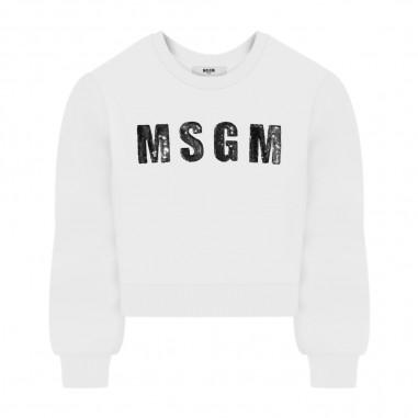 MSGM Girls White Sweatshirt - MSGM 25121-001-msgm30