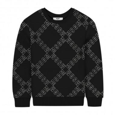 MSGM Boys Black Sweatshirt - MSGM 25642-msgm30