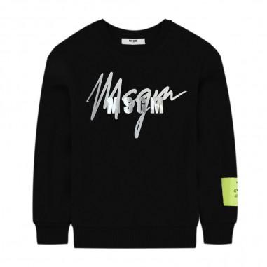 MSGM Felpa Nera Logo - MSGM 25293-msgm30