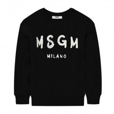 MSGM Felpa Nera Unisex - MSGM 25045-110-msgm30
