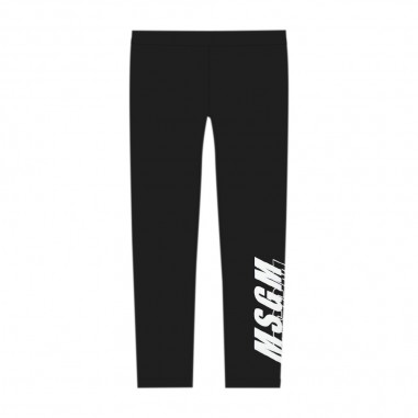 MSGM Girls Black Leggings - MSGM 25032-msgm30