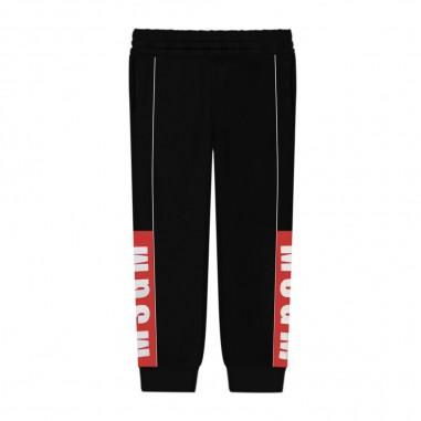 MSGM Pantalone Nero Felpa Bambino - MSGM 25657-msgm30