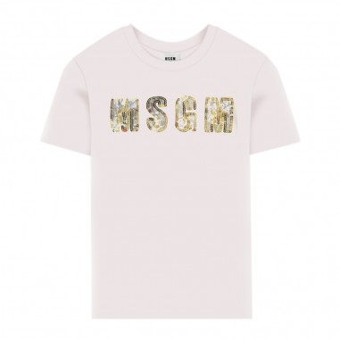 MSGM Girls White T-Shirt - MSGM 25188-msgm30