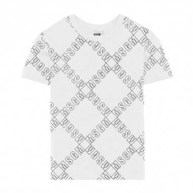 MSGM Boy White T-Shirt - MSGM 25640-001-msgm30