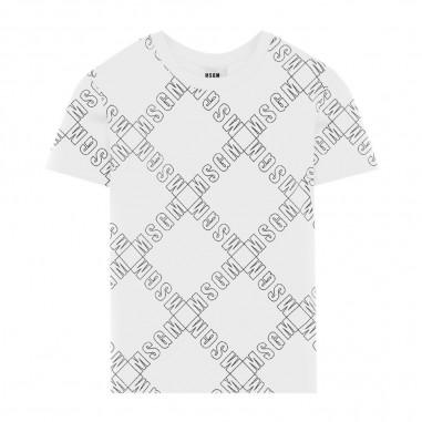 MSGM T-Shirt Bianca Bambino - MSGM 25640-001-msgm30