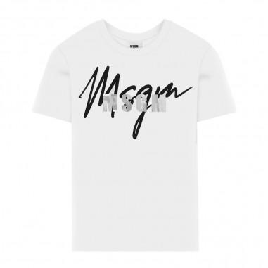 MSGM T-Shirt Logo Bambino - MSGM 25297-msgm30