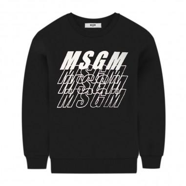 MSGM Felpa Unisex Nera - MSGM 25039-110-msgm30