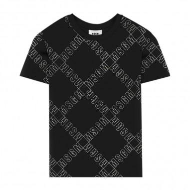 MSGM Boy Black T-Shirt - MSGM 25640-110-msgm30