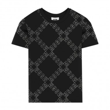 MSGM T-Shirt Nera Bambino - MSGM 25640-110-msgm30