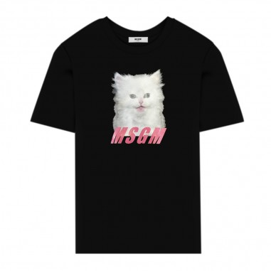 MSGM Girls Oversize T-Shirt - MSGM 25213-msgm30