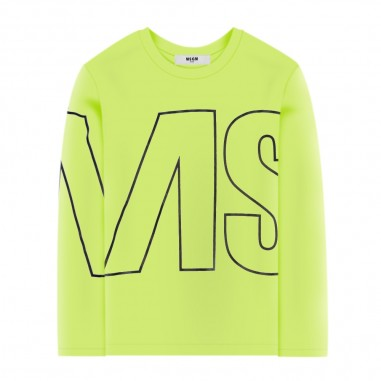 MSGM Girls Yellow T-Shirt - MSGM 25181-020-msgm30