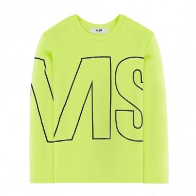 MSGM T-Shirt Gialla Bambina - MSGM 25181-020-msgm30