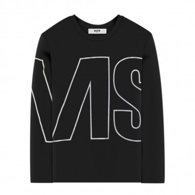 MSGM Girls Black T-Shirt - MSGM 25181-110-msgm30