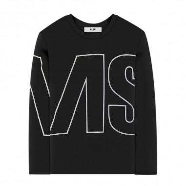 MSGM T-Shirt Nera Bambina - MSGM 25181-110-msgm30