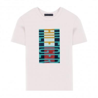 Tommy Hilfiger Kids T-Shirt Bandiera Manica Corta - Tommy Hilfiger Kids kb0kb05854