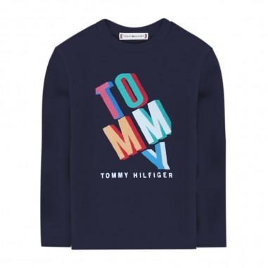 Tommy Hilfiger Kids Fun Text Graphic Tee - Tommy Hilfiger Kids kb0kb05855
