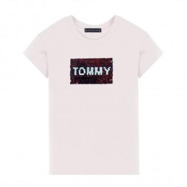 Tommy Hilfiger Kids Flag Flip Sequins Tee - Tommy Hilfiger Kids kg0kg05251