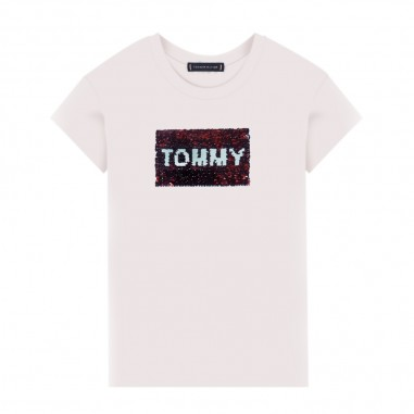 Tommy Hilfiger Kids T-Shirt Logo Pailettes - Tommy Hilfiger Kids kg0kg05251
