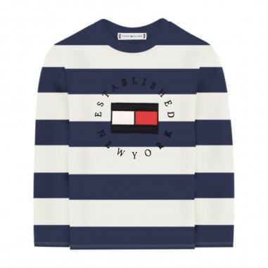 Tommy Hilfiger Kids T-Shirt Righe Manica Lunga - Tommy Hilfiger Kids kb0kb06101