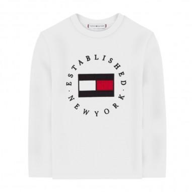Tommy Hilfiger Kids T-Shirt Logo Bianca - Tommy Hilfiger Kids kb0kb06102-bianco