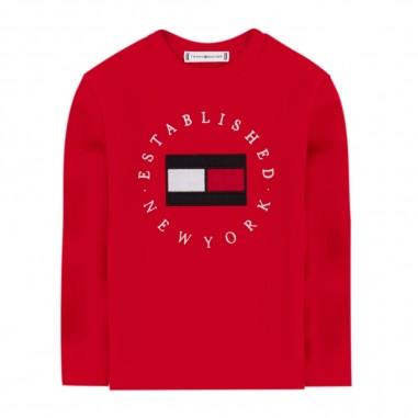 Tommy Hilfiger Kids Red Heritage Logo Tee - Tommy Hilfiger Kids kb0kb06102-rosso