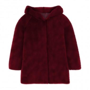 Piccola Ludo Bordeaux Fur Coat - Piccola Ludo vali-piccolaludo30