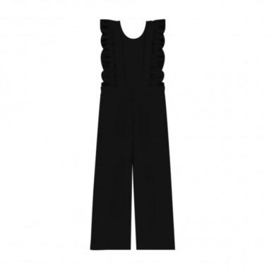 Piccola Ludo Girls Black Jumpsuit - Piccola Ludo lou-piccolaludo30