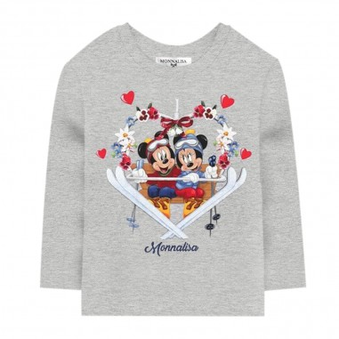 Monnalisa Grey Maxi T-Shirt - Monnalisa 116623p4-monnalisa30