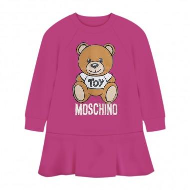 Moschino Kids Abito Fucsia Neonata - Moschino mav07m-lda14-fucsia-moschino30