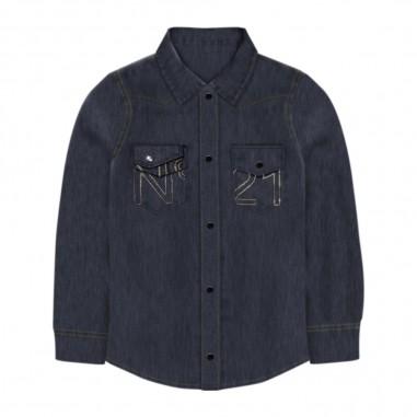 N.21 Kids Camicia Jeans - N.21 Kids n214d4-n21kids30